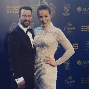 Julia Barry With Husband Matthew Wade (Event)