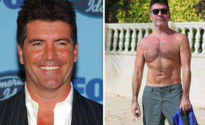 Weight loss transformation of Simon Cowell.