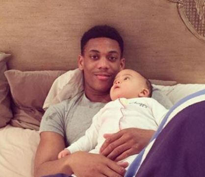 Peyton Martial With Father Anthony Martial