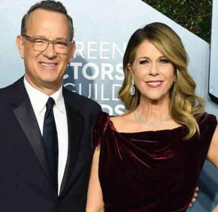 Tom Hank with his wife, Rita Wilson