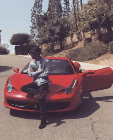 Devion Cromwell and his Ferrari.