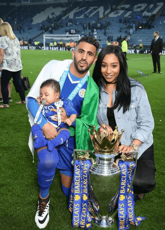 Inaya Mahrez Father Celebrating Premier League Success With Mother And Sibling