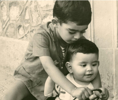Childhood Days of the Bocelli Brothers