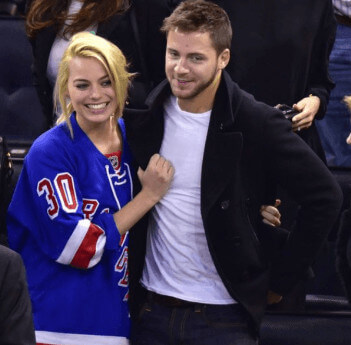 Tom Ackerley With Margot Photographed For The First Time Together