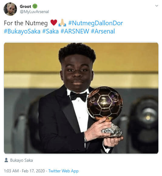 Bukayo Saka Trolled For Ballon D'Or