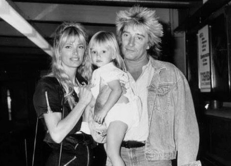 Kelly with Rod Stewart and their daughter Ruby Stewart