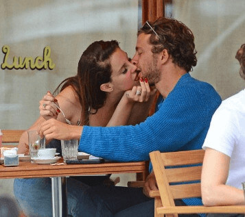 Francesco with his girlfriend Lana on a romantic date
