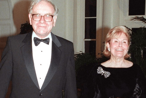 Warren, with his first wife, Susan