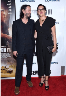 Karina and her brother at the screening of Semper Fi