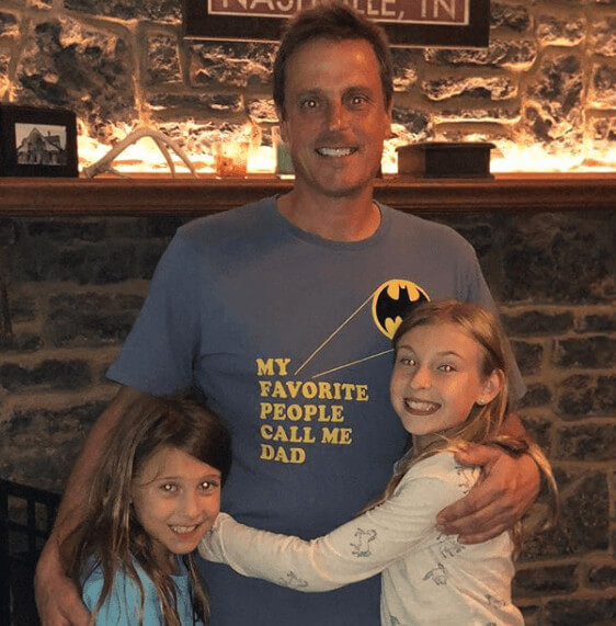 Neil Orne With His Children