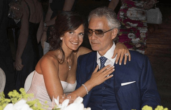 Veronica Berti With Her Husband Andrea Bocelli