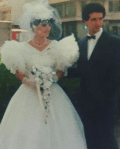 Vera Sahatciu With Her Husband On Wedding