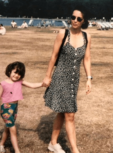 Vintage Picture Of Her With Daughter Rita Ora