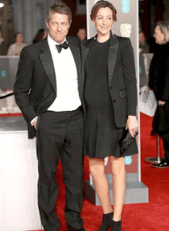 Hugh Grant and his wife, Anna Eberstein