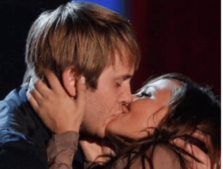 Kissing Ex-Boyfriend Robert Hoffman