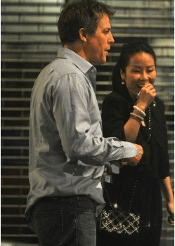 Tinglan Hong with her then-boyfriend Hugh Grant
