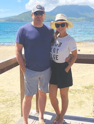 vacation time with her husband