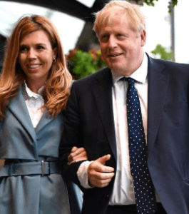 Boris with his fiancé Carrie Symonds