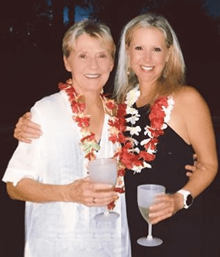 Cheryl Casone with her mother