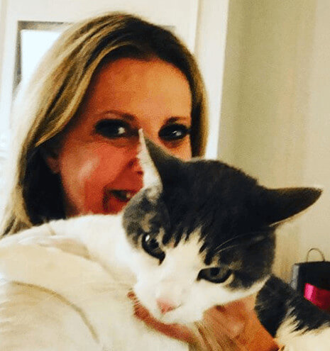 Cheryl Casone with her cat Milo