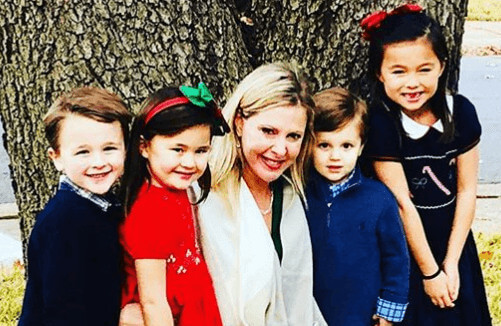 Cheryl Casone with her nieces and nephews