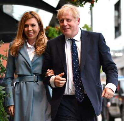 Boris with his fiancée Carrie