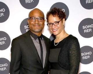 Leah C. Gardiner with her beloved husband, Seth Gilliam, at Soho Rep's Spring Fete.