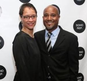 Leah C. Gardiner with her husband, Seth Gilliam