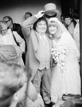 Patsy Ann Scott and late Eddie Large in their wedding day