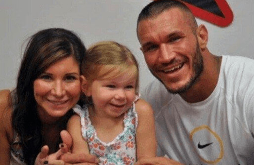 Samantha Speno with her daughter Alanna Marie Orton and former husband, Randy Orton