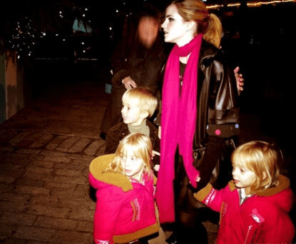 His daughters Emma, Lucy, and Nina