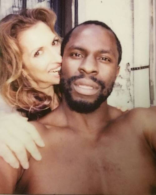 Gbenga Akinnagbe and his friend and co-actor Alysia Reiner.