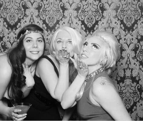 Cynthia Germanotta with her daughters