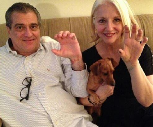 Cynthia Germanotta with her husband, Joseph.