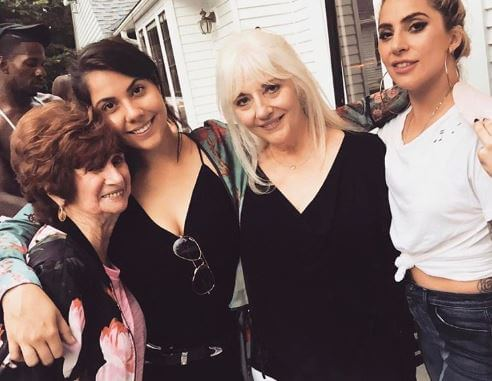 Cynthia Germanotta with her mother and daughters.