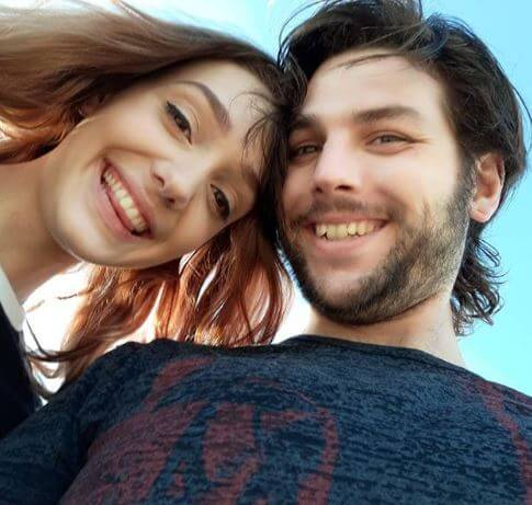 Navarone Garibaldi with his girlfriend Elisa.