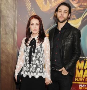 Navarone Garibaldi with his mother, Priscilla Presley.