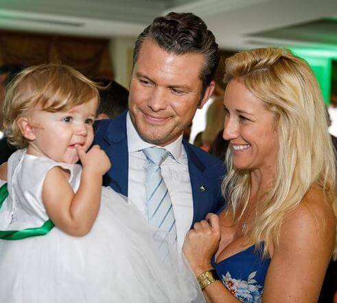 Rex Hegseth's father, Pete Hegseth with his wife and daughter