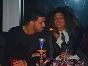 Samantha Fenty with her sister then-boyfriend, Drake.