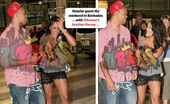 Rorrey Fenty with his rumored girlfriend.