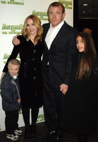 Rocco Ritchie with his parents and half-sister Lourdes Marie Ciccone