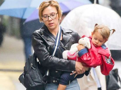 Scarlett Johansson With Her Daughter Rose
