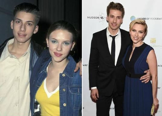 Scarlett Johansson with her Twin brother