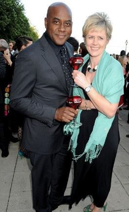Ainsley Harriott with his ex-wife