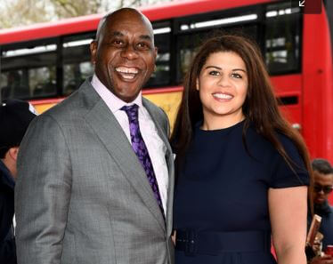 Jimmy Harriott's father, Ainsley Harriott and siser, Maddie.