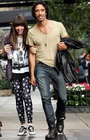Lourdes Leon with her father, Carlos Leon