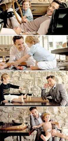 Robert and Exton Elias Downey's photoshoot for Vanity Affair