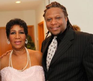 Teddy Richards with her legendary mother, Aretha Franklin