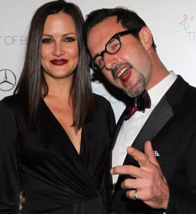 Coco Arquette's father, David Arquette, with his current wife, Christina McLarty