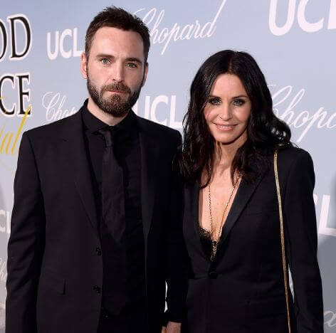 Coco Arquette's mother, Courtney cox, with her boyfriend, Johnny McDaid